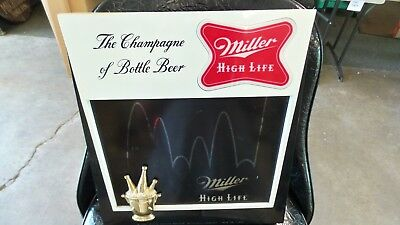 1960 Collectible Vintage Miller High Life Electric Lighted Motion Beer Bar Sign