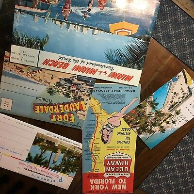 1950s Florida Map and postcards, folders and more!