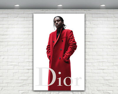 Asap Rocky Dior Canvas Print A$Ap Rocky Poster Frame Chanel Fashion