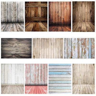 5x7FT Vintage Wood Wall Floor Photography Backdrop Studio Photo Vinyl Background