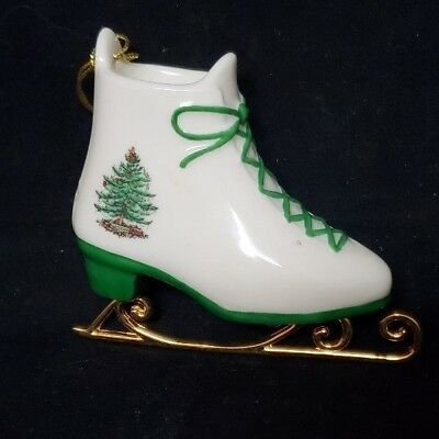 Great Find!  Spode Porcelain Ice Skate Handcrafted Ornament