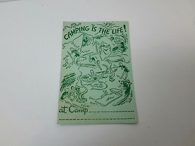 """NOS Vintage  Girl Scout Camp Post Card, """"CAMPING IS THE LIFE!"""""""