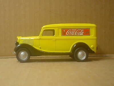 Coca Cola Die cast 1936 Ford Panel Truck ~ Nostalgic Miniatures ~ Black Roof