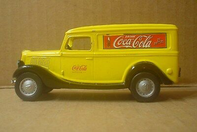 Coca Cola Die cast 1936 Ford Panel Truck ~ Nostalgic Miniatures ~ Yellow Roof #2