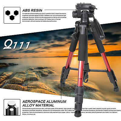 Zomei Q111 Professional Portable Aluminum Tripod W/ Bag for camera&camcorder Red