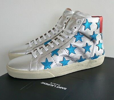 904053cf3e6 SAINT LAURENT SL/06 STAR CALIFORNIA COURT CLASSIC Leather Sneakers EU-45 US-