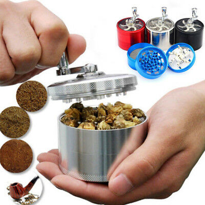 1pcs 4-Layers Herb Grinder Spice Tobacco/Weed Smoke Metal Crusher Leaf Design