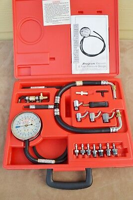 Nice! Snap On No.mt311Jb Engine Vacuum Fuel Pressure Gauge Set 0-15 Psi Systems