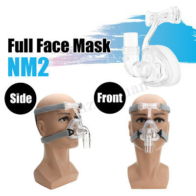 NM2 Nasal Mask For CPAP Full Face Masks Interface Sleep & Snore Strap w/Headgear