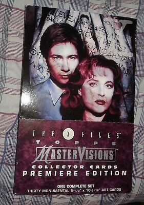 The X-Files Topps MasterVisions 30 Collector Cards Premiere Edition Complete Set