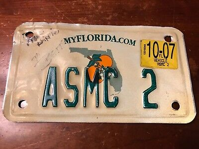 vintage FLORIDA  motorcycle license plate.