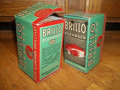 Vintage 1950's Brillo Cleanser Pads never opened in original boxes lot of two