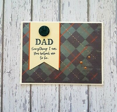 Handmade Father's Day Card *You helped me Dad*
