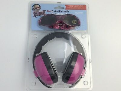 BANZ 3month+ Sunglasses and Earmuffs Duo (Magenta) Protection Set