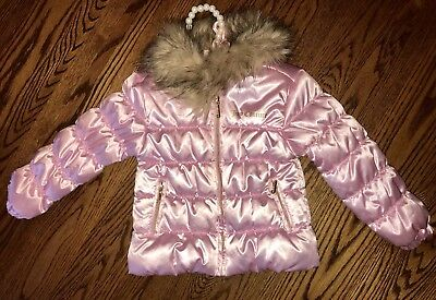 NWT JUICY COUTURE FAUX FUR Blush Pink Winter Coat, 3T