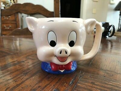 1989 Porky Pig Vintage Ceramic Applause Mug - Great Condition