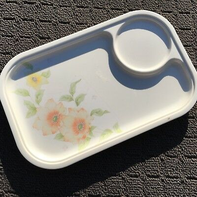 """MALA """"Blooming Flowers"""" Sweet Melamine Lunch Serving Tray Food Plate"""