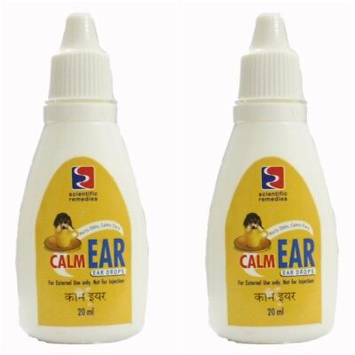 Lot of 2 Dog Calm Ear Drops 20 ML each anti bacterial anti fungal clean ear