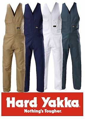 Hard Yakka Tradesman 100% Cotton Drill Action Back Overalls / Coveralls Y01555