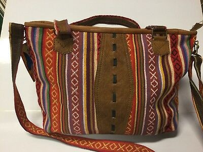 New ladies Buffalo/Cotton Hand/shoulder Bag Made In Nepal