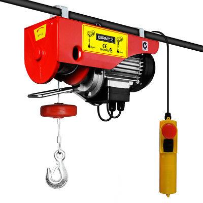 GIANTZ 1200W Electric Hoist Winch 18M Rope Tool Weight Capacity 300KG 600KG