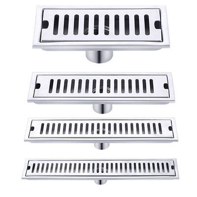 Stainless Steel Bathroom Floor Drain Linear Long Shower Waste Drainer Grate