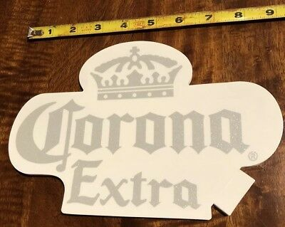 Corona Sticker / Decal clear And Silver Metallic Authentic Ships Free