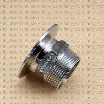 """1pcs Adapter KF50 Flange to 1-1/2"""" Male PT, SS 304, vacuum fitting #A92Y LW"""