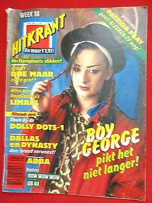 "Boy George - ""hitkrant"" 18/1983 (Nl) - Abba - Limahl - Bowie - Dallas - Denver"