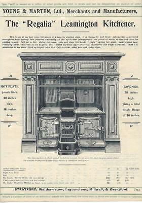 Vintage Architectural Advert Young and Marten Stratford - The Regalia Range .