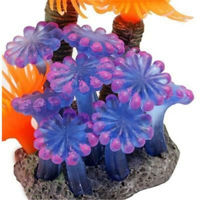 Aquarium Silicone Coral Fish Tank Silicone Ornament Plant Decoration Supplies T