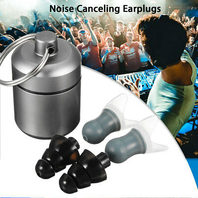 3in1 27db Noise Canceling Earplug For Concert Musician Swimming Hearing Protect