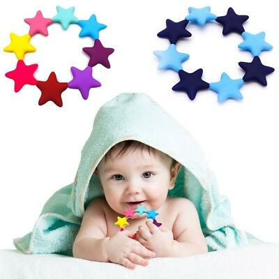 Food Grade Silicone Teether Star Shape Baby Chewable Teething Bracelet Teether