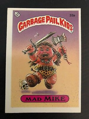 33a 1986 The Garbage Pail Kids Gang Series 1 UK Set Card
