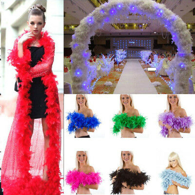 2M Feather Fluffy Boas Fancy Dress Hen Night Party Burlesque Halloween Costumes