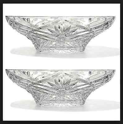 "Set of 2 Marquis By Waterford 12"" Maximilian Crystalline Bowls - Pair Model 1638"