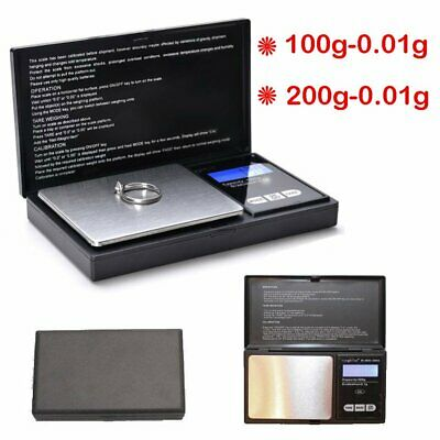 Electronic Pocket Mini Digital Gold Jewelery Weight Scale 0.01G to 100/200 Grams