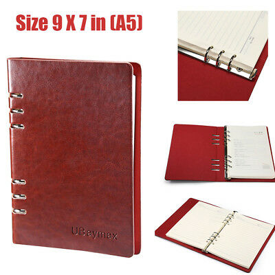Retro A5 Refillable Leather Journal Writing Diary Remark Notebook Handmade Book