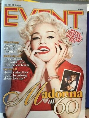 Madonna At 60 Special Tribute  UK Event Magazine 10/06/18 cover clippings