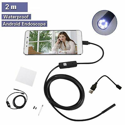 5.5mm*2M Endoscope HD Endoskop Wasserdicht USB Inspektion Kamera für Android PC