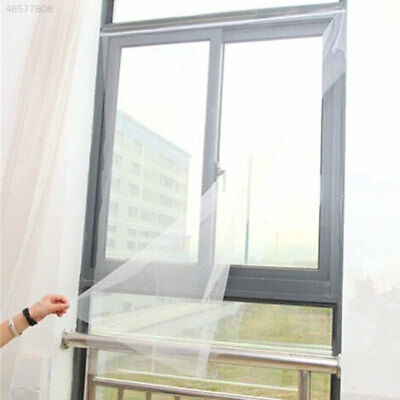 0AC3 DIY Mesh Window Magic Curtain Snap Fly Insect Mosquito Screen Net White