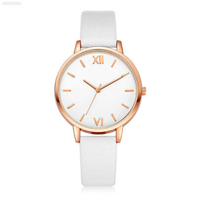 2176 Fashion Women's Geneva Roman Numerals Leather Analog Quartz Wrist Watch