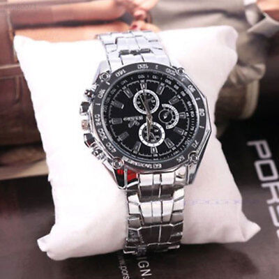 C97A Men's Stainless Steel Quartz Analog Wrist Watch Sport Watches Gifts