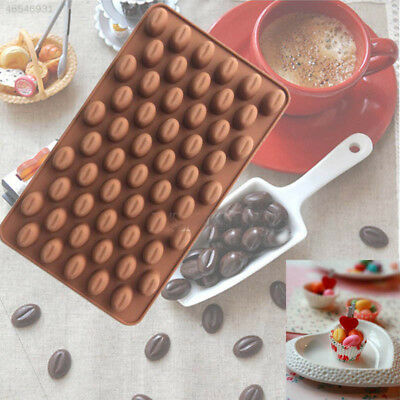 5562 Mini Coffee Bean Silicone Mould Cake Chocolate Candy Soap DIY Kitchen