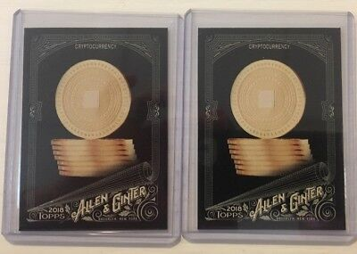 2018 Topps Allen & Ginter X CRYPTOCURRENCY Black Lot of 2
