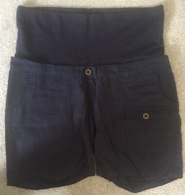 Jojo Maman Bebe Maternity Shorts Navy Twill Shorts Size 14 BNWT Cotton