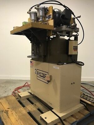 Used Ritter R803HD 2-Head Horizontal Line Boring Machine W/ Bits & Foot Control