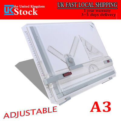Multi Fuction A3 Drawing Board Art Architecture Parallel Motion Adjustable Angle