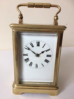 Antique French 8Day Striking  Carriage Clock Working Order