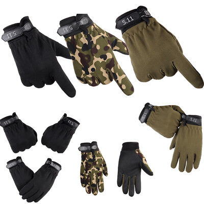 Tactical Full Finger Gloves Mens Military Airsoft Hunt Shooting Combat Paintball